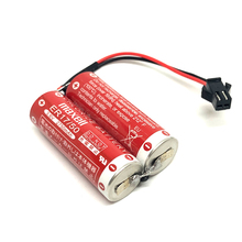 8pcs/lot New Genuine 3.6V 5500MAH Maxell ER17/50 PLC Industrial Control Battery Lithium PLC Batteries Pack with black connector стоимость