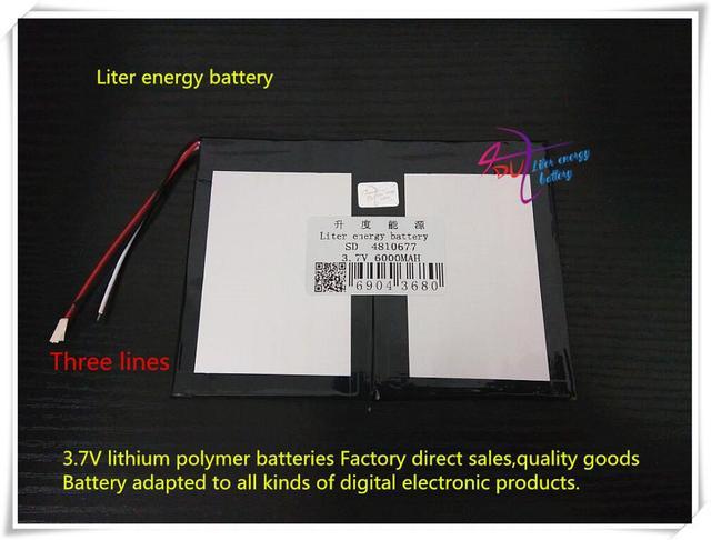 3.7 V 6000 mAH 4810677 bateria De Polímero de iões de lítio/bateria de Iões de lítio para tablet pc BANCO do PODER do telefone celular PIPO