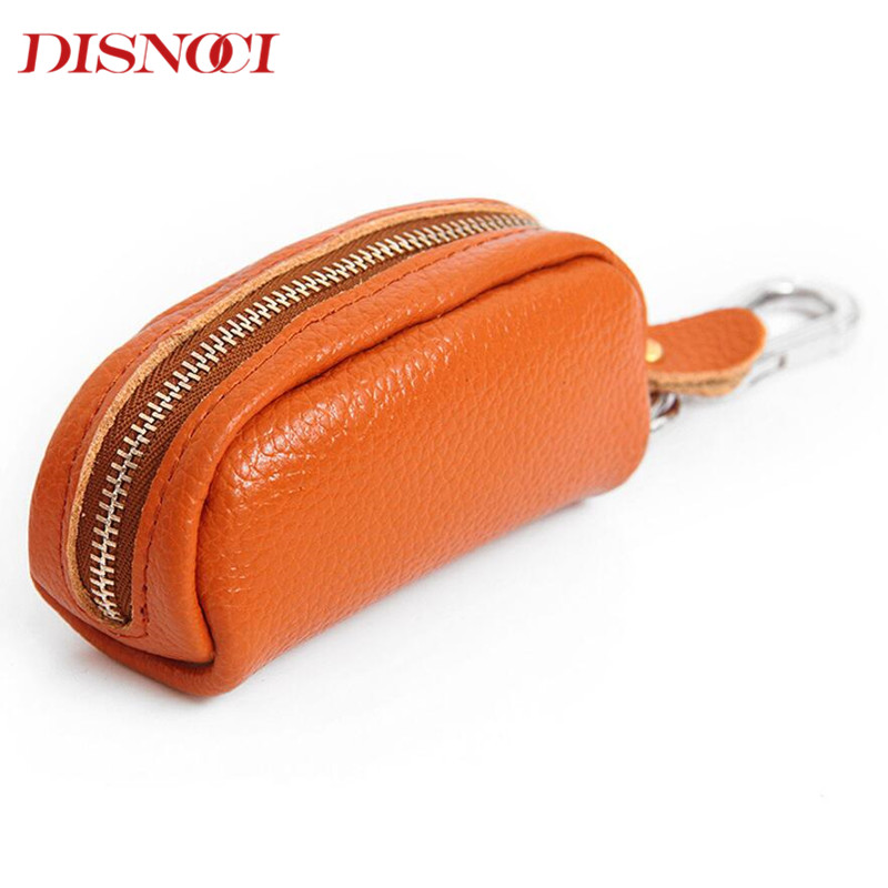 DISNOCI Brand Genuine Leather Key Holder For Men Car Key Wallet Case Housekeeper Women Keychain Organizer цены онлайн