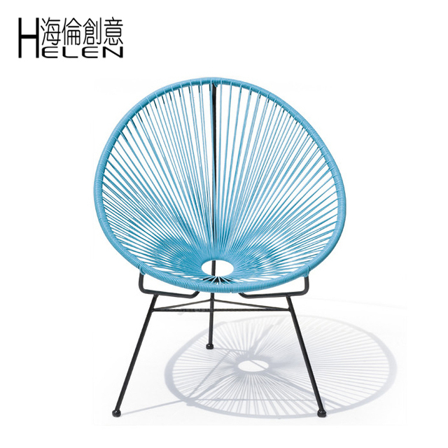 ACAPULCO Iron Rattan Lounge Chair Outdoor Chair Outdoor Cafe Chair Recliner  Chair Designer