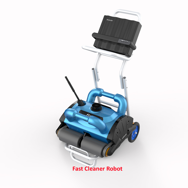 Remote Control Wall Climb function Automatic Smart Swimming Pool Cleaner Robot with caddy cart and 15m cable