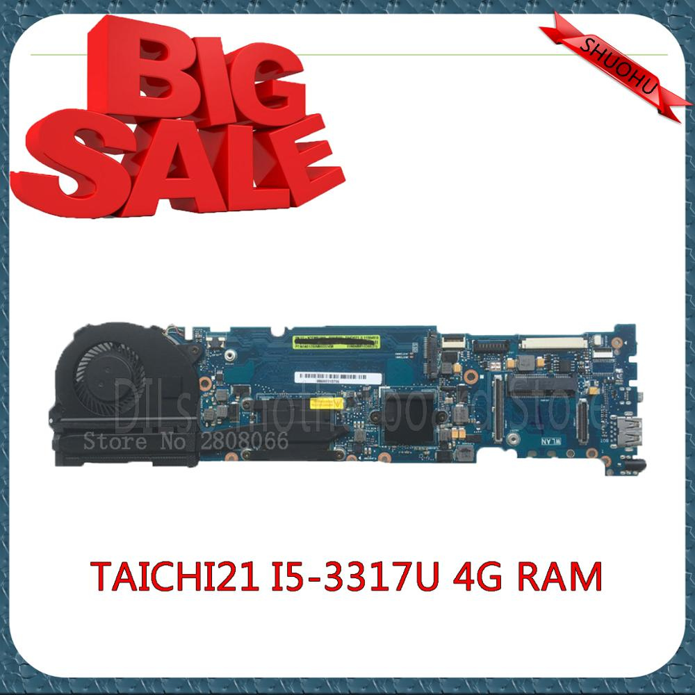 SHUOHU TAICHI21 For ASUS TAICHI21 Laptop Motherboard i5-3317U  TAICHI21 MAIN-BD-4G/I5-3317U original new 100% tested pamuk o the museum of innocence