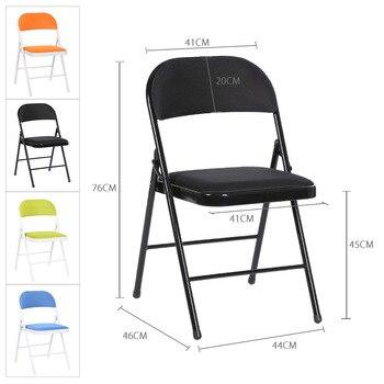 2 pcs/lot Portable Folding Metal Conference Chair  1