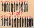 24 Pçs/lote Dobrar chave lâmina Tipos Completos embrião substituir a cabeça de chave Remoto da chave Do Carro Chave Lâmina Slot Do Meio NÃO 01-20