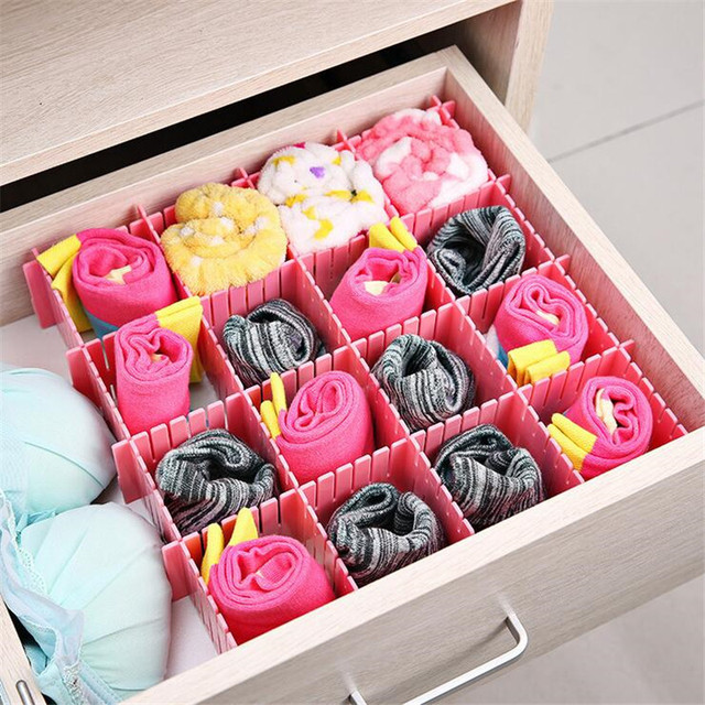 4PcsSet Plastic DIY Grid thickened Organizer Storage Box Container