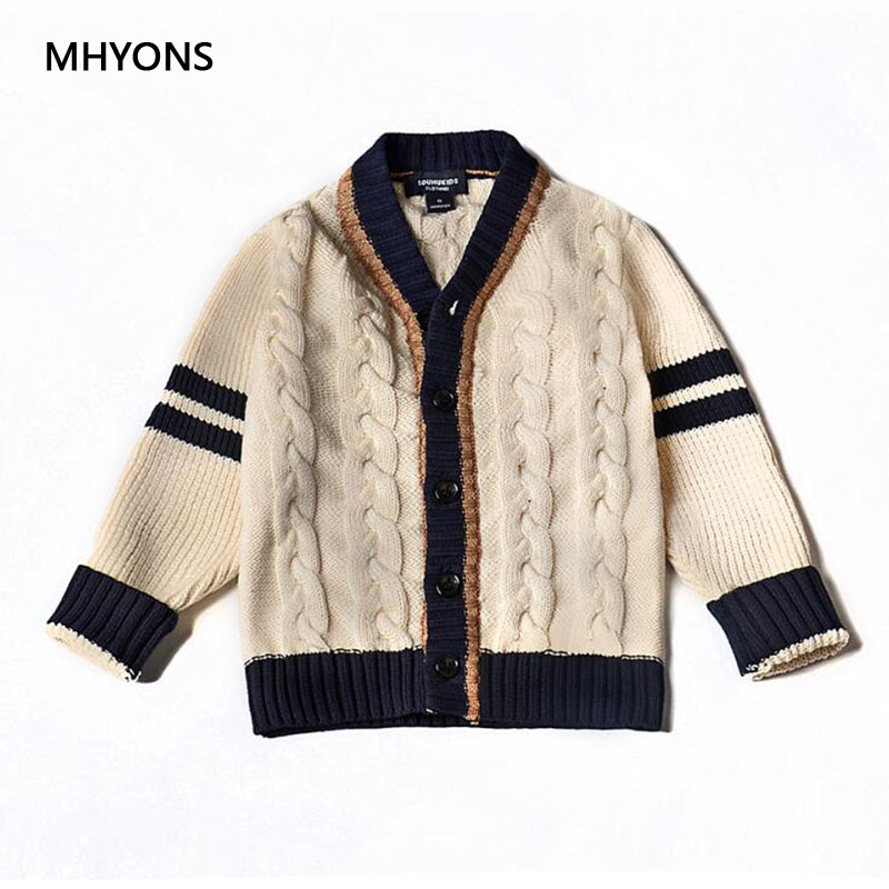 2018 Girl's Sweater Knit Cardigan Toddler Kids Baby Outfit Clothes Button Knitted Sweater Boys Girls College wind Cardigan Coat купить в Москве 2019