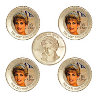 WR UK Custom Metal Coin Collectible 20th The Last Rose of England Princess Diana Commemorative Metal Coins Art Ornament