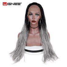 Synthetic Braiding Lace Front Wig 22 Inch Havana Mambo Twist Hair Wig Comb In Frontal Lace Wig Senegal Twist Braiding Hairtyle цена 2017