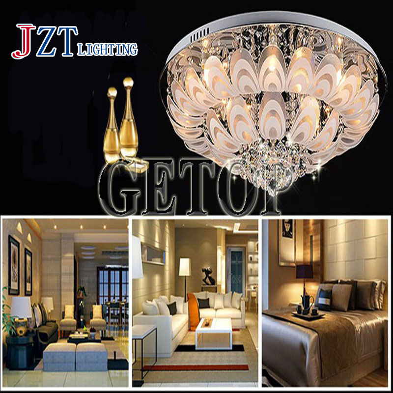 J best price mordern light Round Crystal Lamps led peacock modern minimalist living room ceiling lights bedroom absorb dome lamp best price 5pin cable for outdoor printer