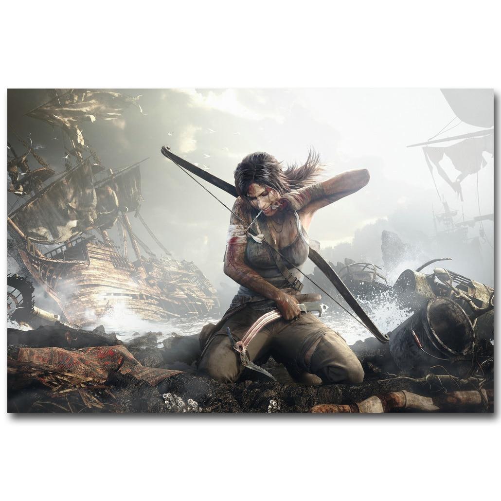Tomb Rider Wallpaper: Rise Of The Tomb Raider Art Silk Fabric