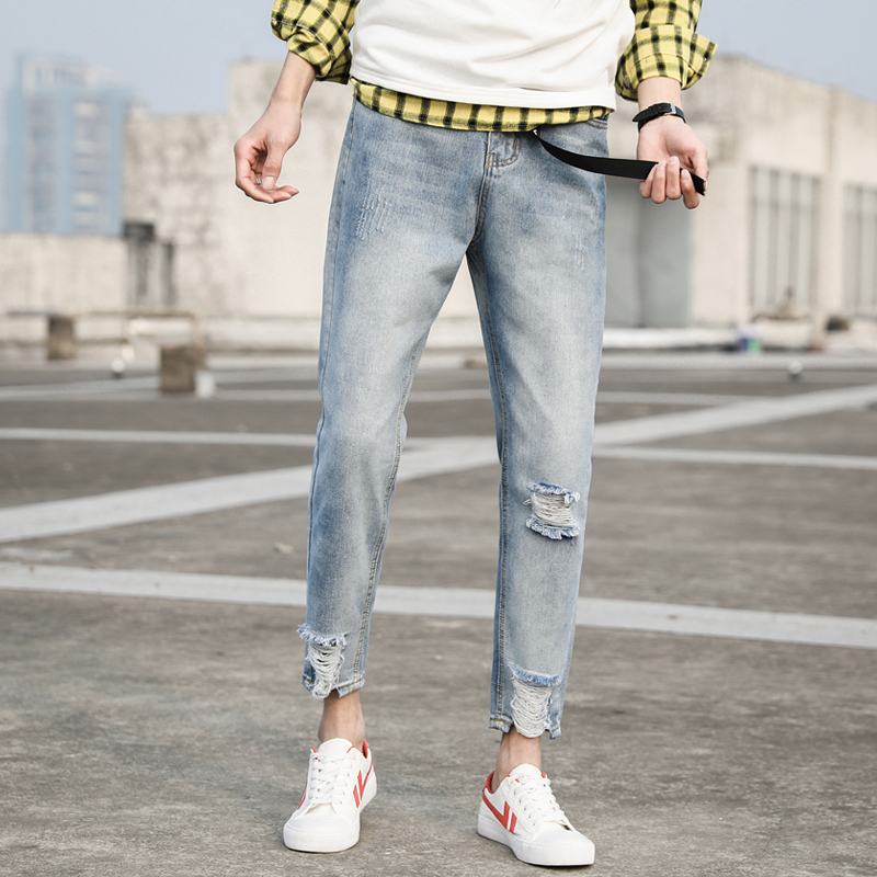 MUAONE 2018 Marque Pantalon D été de nouveaux hommes jeans Slim casual  hommes de pantalon A190   00b54e9c88dd