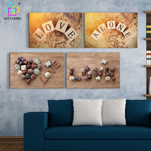 2Pieces Canvas Painting Nice Scenery Word on the Wood Artwork Home Wall Hanging Picture Decoration Room No Frame ART COMBO 2T005