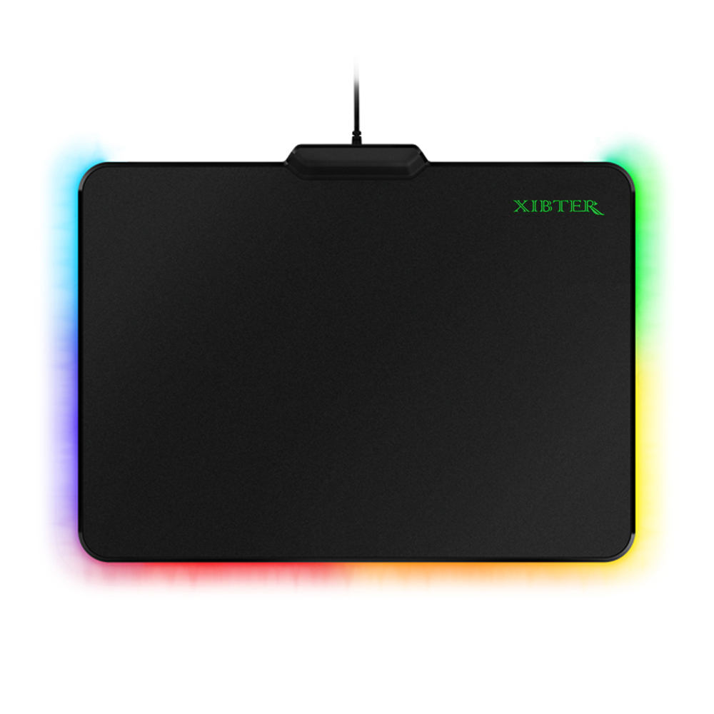ФОТО Free Shipping Firefly Hard Gaming Mouse Pads Mats,USB Jack,Chroma Lighting Mousepad For PC Computer Overwatch CS GO