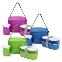 HOT Lunch Tote Bag Set Water Soup Mug Insulated Food Container Lunch Box Japanese Bento Plastic
