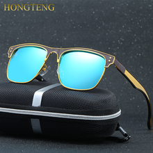 HONGTENG Aluminum Magnesium Fashion Men's Mirror Sun Glasses Goggle Eyewear Female / Male Accessories Sunglasses For Women/Men