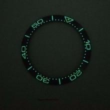 38 мм супер люминесцентный ободок Кольцо Вставка керамические часы ободок подходит для автоматических часов