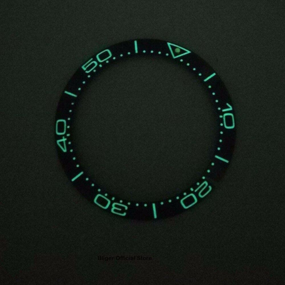 38mm Super Luminosa Bezel Inserção Anel De Cerâmica Moldura Relógio Se Encaixa para Relógio Automático