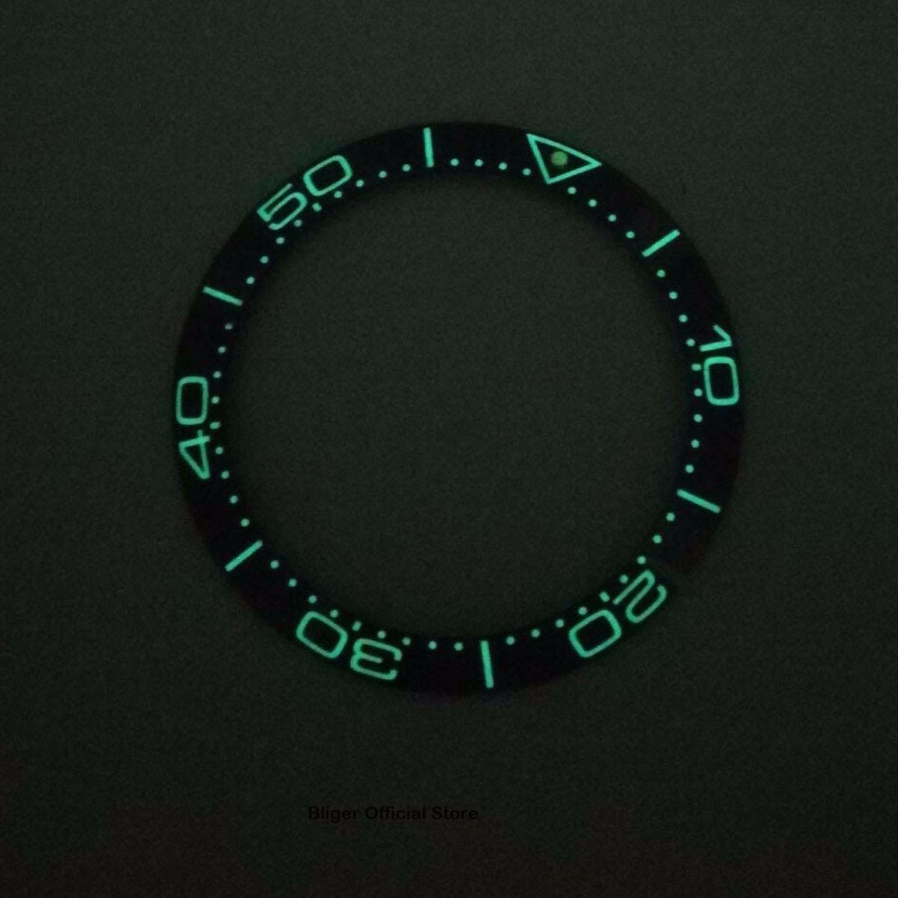 38mm Super Luminous Bezel Ring Insert Ceramic Watch Bezel Fits For Automatic Watch