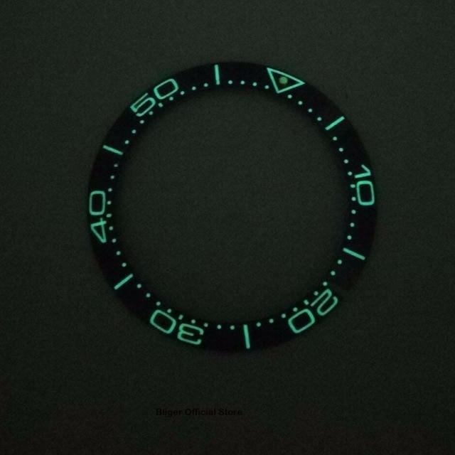 38mm 슈퍼 루미 너스 베젤 링 삽입 세라믹 시계 베젤 자동 시계에 적합
