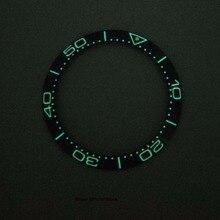 Anillo de bisel superluminoso de 38mm, bisel de reloj de cerámica de inserción, apto para reloj automático