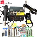 220V/110V Saike 852D++ Hot Air Rework Station soldering station BGA De-Soldering 2 in 1 with Supply air gun rack ,and many gifts