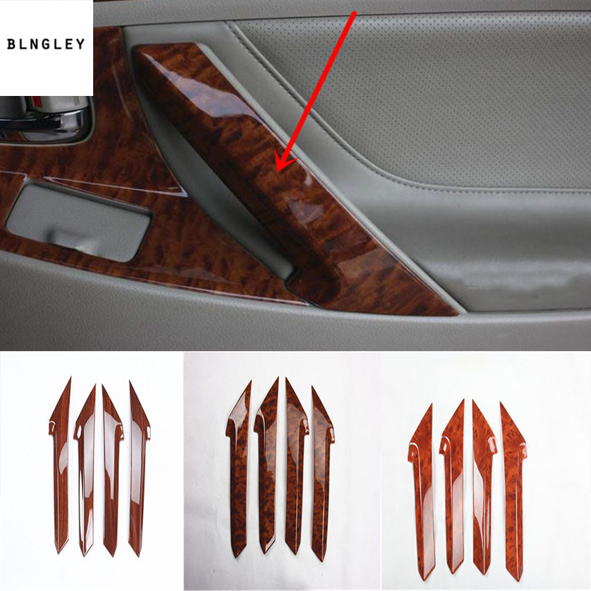 4 шт./лот ABS деревянный зерна межкомнатной двери встряска handshandle украшения Обложка для 2006-2011 Toyota camry MK6