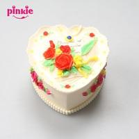 Love Heart Rose Design Large Handmade Jewelry Box Fondant Cake Silicone Mold Wedding Cake Decoration Clay