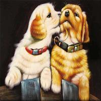 Cute Dog Cat 5D Diamond Embroidery Painting DIY Kit With Frame Round Drill Cross Stitch Kit