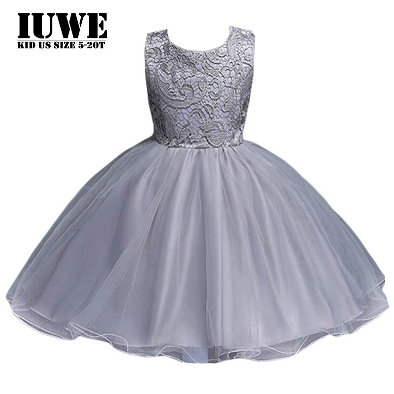Dress for Girl 12 Years Old Sleeveless Flowers Lace Ball Gown Wedding Dress New 2017 Summer Baby Girl Clothing Elegant Dresses 4pcs new for ball uff bes m18mg noc80b s04g