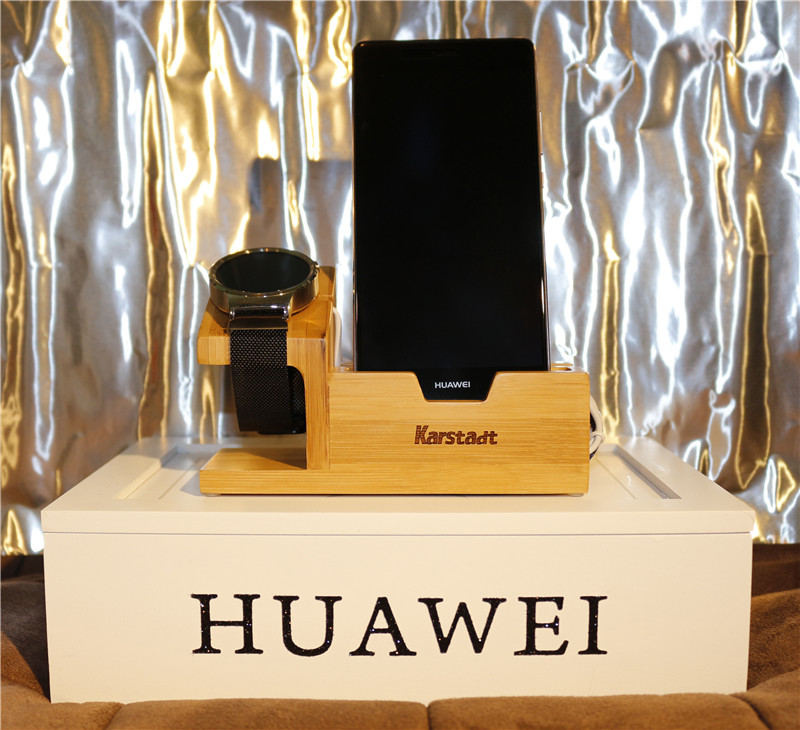 Bamboo Wood with 3 port USB Charging Stand Dock Station Bracket Holder For Huawei Watch For