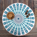 Indian Mandala Round Roundie Beach Throw Peacock Printed Tapestry Hippy Boho Gypsy Polyester Tablecloth Beach Towel