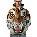 Unisex 3D hoodies men tiger sweatshirt men hip hop harajuku brand clothing sweatshirt 3d mens lion hoodie plus size 3XL pullover