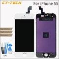 1 unids buena calidad de alta definición lcd para apple iphone 5s Ningún Pixel Muerto Reemplazo de la Pantalla Táctil de la exhibición de 4.0 pulgadas Negro blanco