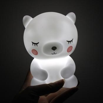 LED Night Lights Cute Panda Bear Cartoon Animal 3D Light Nursery Sleeping Baby Bedroom Lamp Table Lamp Decoration For Kids Gifts vasos sanitários coloridos