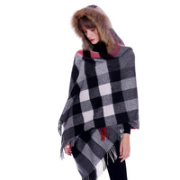 British style pure woolen shawl woman warm cashmere scarf in autumn and winte