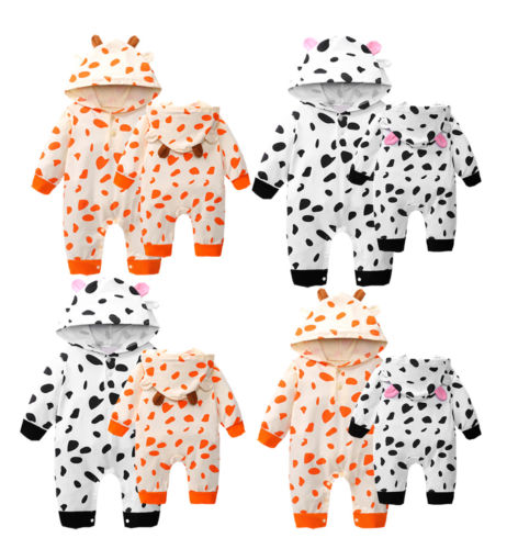 Brand New Winter Warm Newborn Toddler Baby Infant Boy Girl Hooded Dot Romper Jumpsuit Bodysuit Outfits Clothes Girls' Baby Clothing