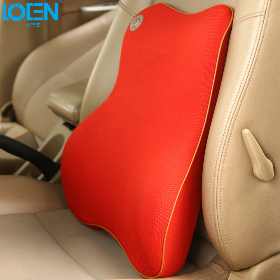 High quality universal car back support space memory fabrics car seat support cushion lumbar waist back