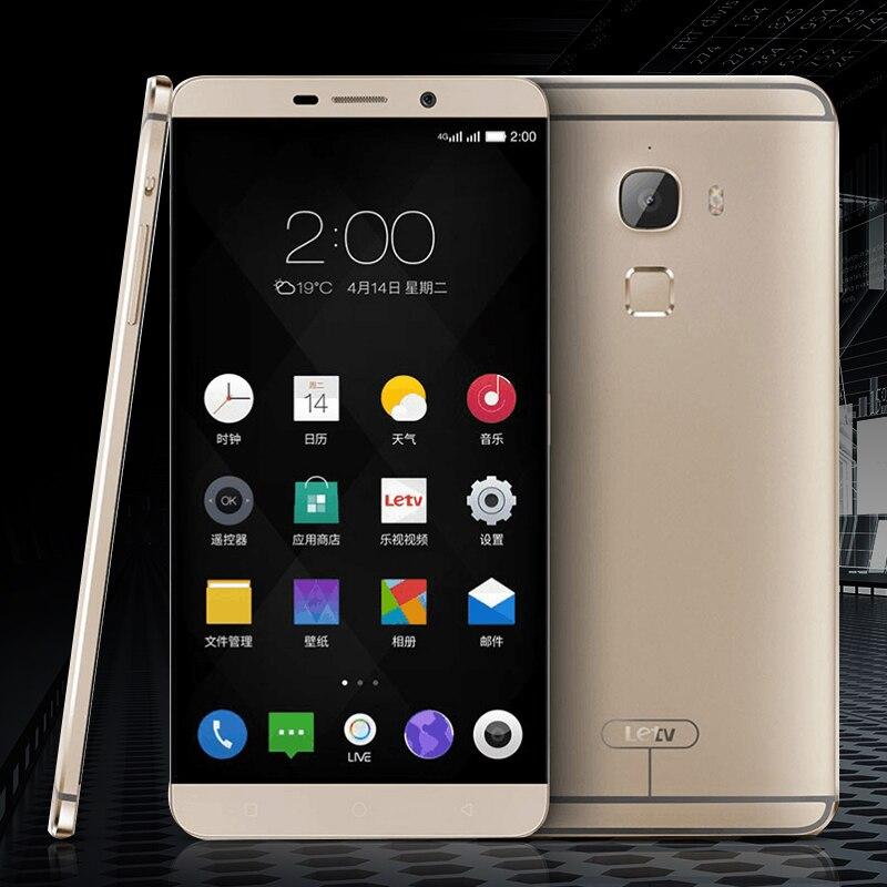 D'origine LeEco Letv Le Max X900 6.33 Octa Core 4g LTE Mobile Téléphone 4 gb RAM 64g ROM Snapdragon 810 Android 5.0 Empreintes Digitales NFC