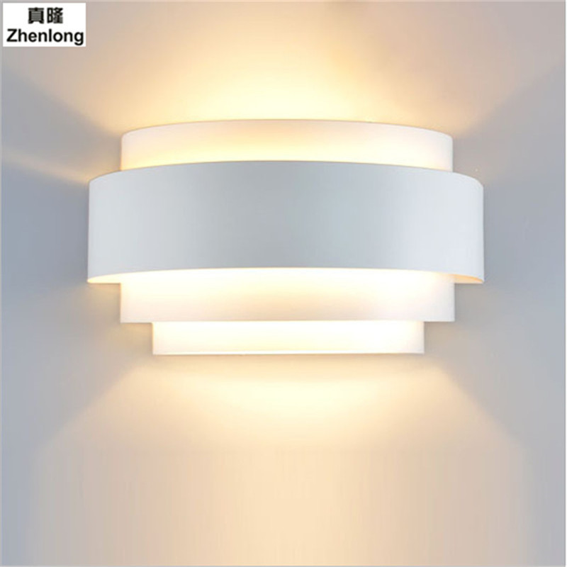 Modern Wall Lamp LED White Wall Sconce Ambient Light Flush Mount Wall Lights Lustres Bathroom Fixtures Home Lighting Arc Aisle
