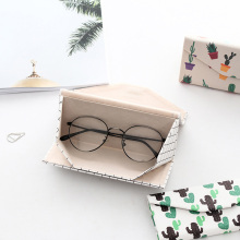 2019 Fashion Hot Folding Eyeglass Case Holder PU Leather Printed Goggles Protective Box Glasses Sunglasses Pouch MSK66