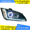 Hireno Custom Modified Headlamp For Frod Focus 2005 08 Headlight Assembly Car Styling Angel Lens Beam