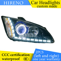 Hireno Custom Modified Headlamp For Frod Focus 2005 08 Headlight Assembly Car Styling Angel Lens Beam