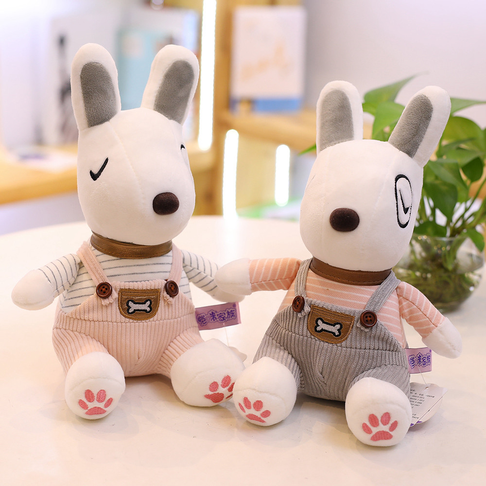 Cute Soft Bull Terrier Dog Plush Toy Dog Stuffed toy Doll Children Kids Toy Birthday Girlfriend Gift Baby Toy