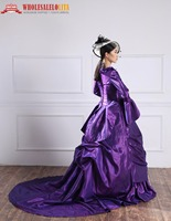 18th Century Dress Marie Antoinette Dresses Renaissance Medieval Long Tailing Victorian Costumes
