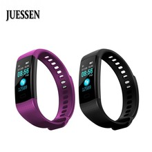hot deal buy juessen y5 smart band sleep tracker watch color screen electronics fitness bracelet heart rate monitor wristband pk xaomi band 2