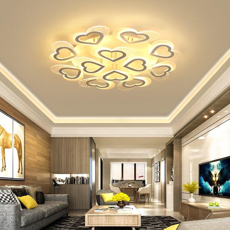 Blanc acrylique moderne LED lustre pour salon chambre LED Lustres grand plafond lustre luminaires AC85-260VBlanc acrylique moderne LED lustre pour salon chambre LED Lustres grand plafond lustre luminaires AC85-260V