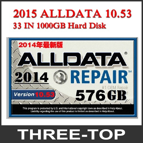 Alldata repair software 10.53+Mitchell 2014+ WD/TOSHIBA/HGST/ Seagate randomly sent 35 in 1 with 1TB NEW Hard Disk