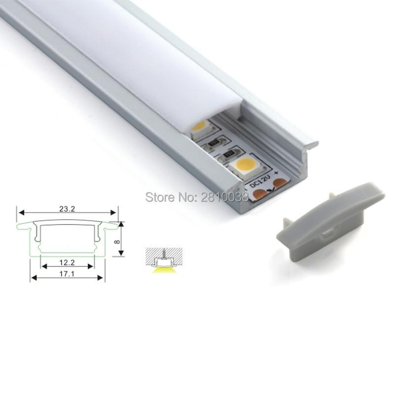 100 x 1M komplekti / partijas fabrikas cenu loksnes alumīnija profils un AL6063 vadīts T profils padziļinātām grīdas vai zemes gaismām