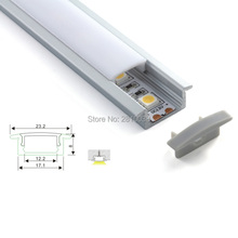 100 x 1M Sets/Lot Factory price led strip aluminium profile and AL6063 T for recessed floor or ground lights