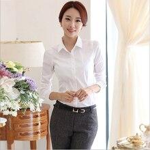 Winter Women wear long-sleeved white shirt female wild Slim temperament ladies bottoming shirt big yards polo shirt